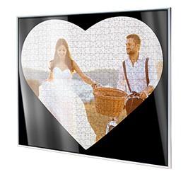 Cornice per puzzle a forma di cuore; visualizzazione dettagliata angolo