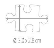 Dimensione del tassello del puzzle - foto puzzle 200 pezzi