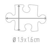 Dimensione del tassello del puzzle - foto puzzle 600 pezzi