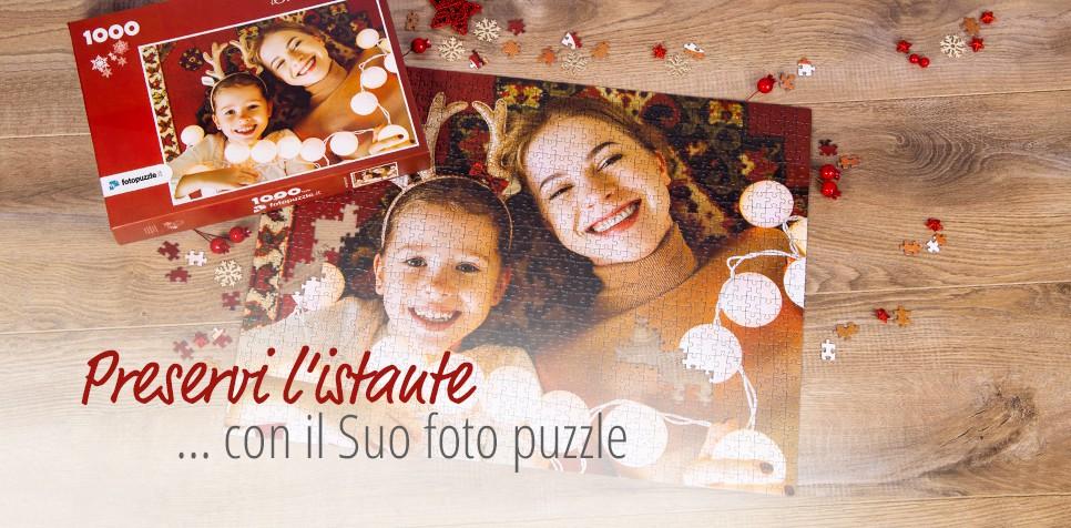 Foto puzzle personalizzato per il Natale in molte dimensioni