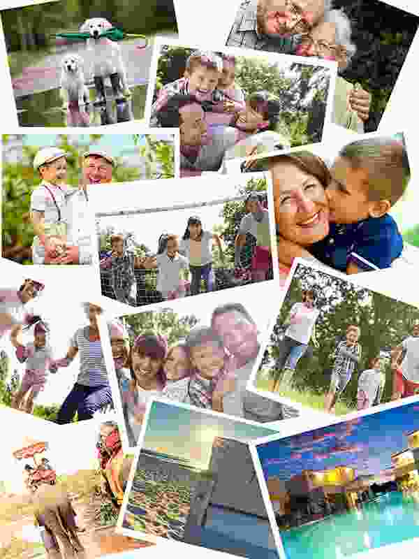 Photo Puzzle with Overlapping collage 12 Photos