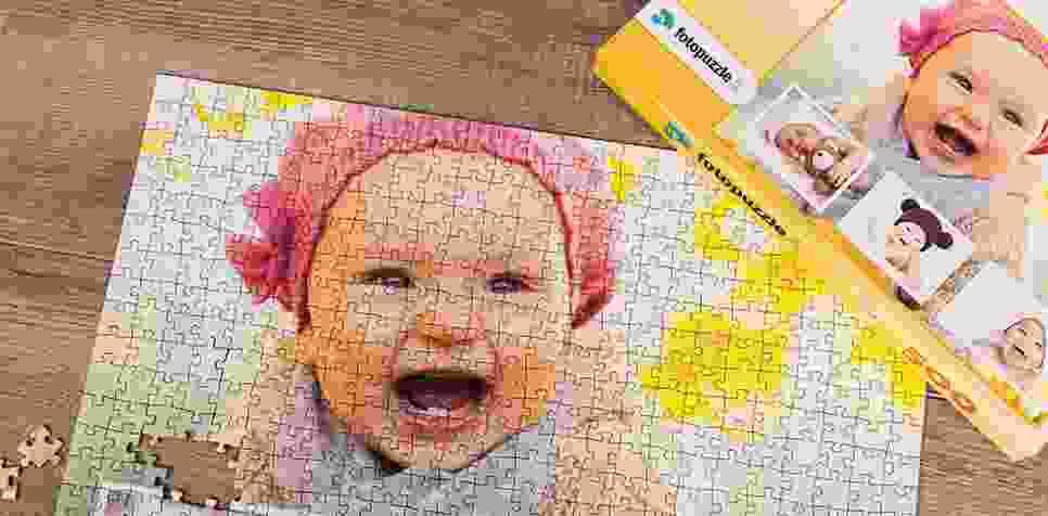 Foto puzzle con sfondo personalizzato