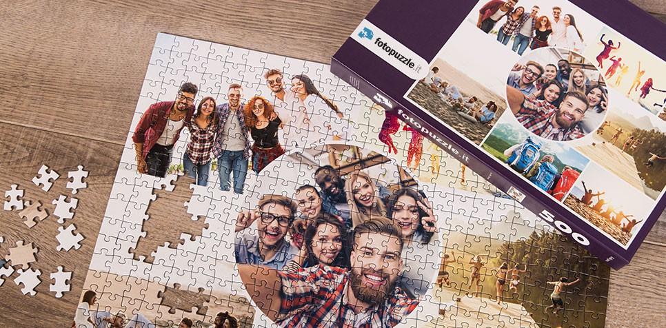 Foto puzzle collage modello artistico