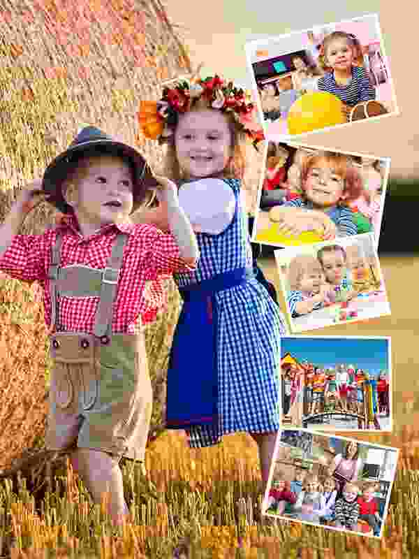 Photo Puzzle with Own Background collage 6 Photos