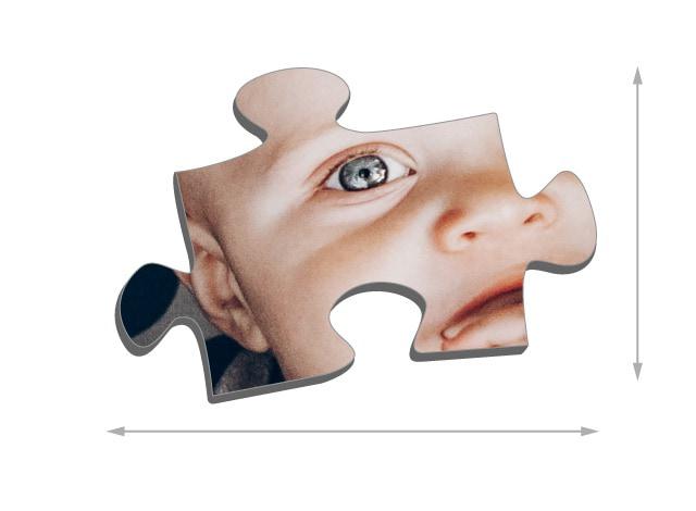 Dimensioni die tasselli del puzzle 2000