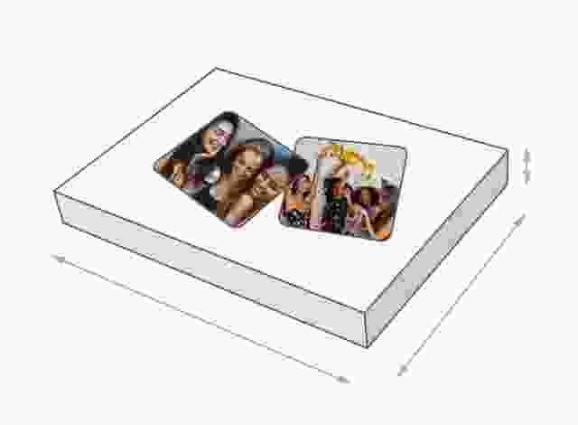 Dimensioni della scatola del gioco di memoria