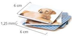 Dimensioni delle carte del gioco di memoria