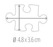 Dimensione del tassello del puzzle - foto puzzle 100 pezzi