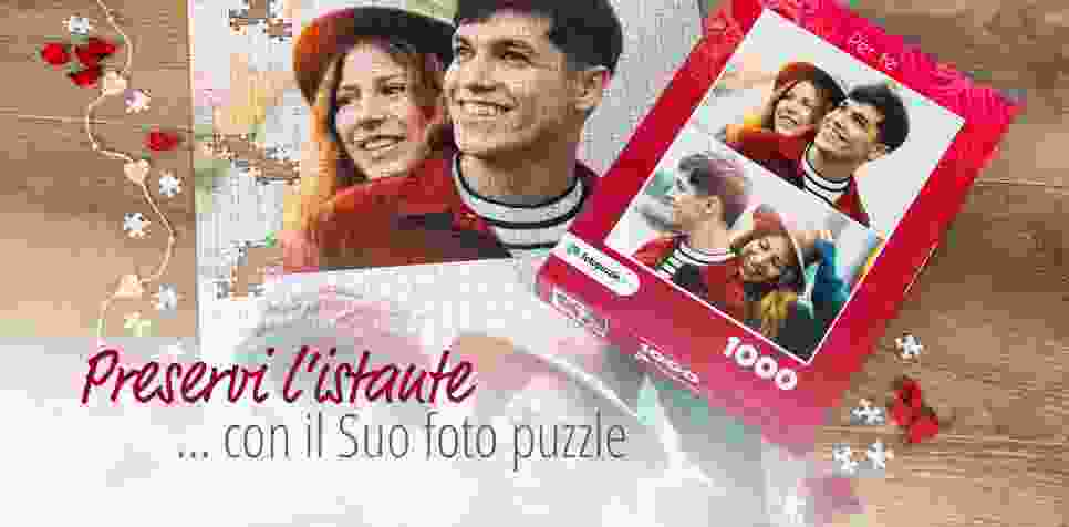 Foto puzzle personalizzato in molte dimensioni
