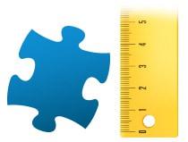 Proporzione dei tasselli del foto puzzle 100 pezzi