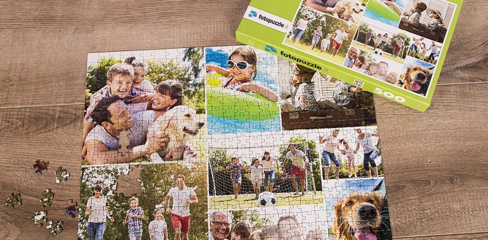 Foto puzzle collage modello semplice