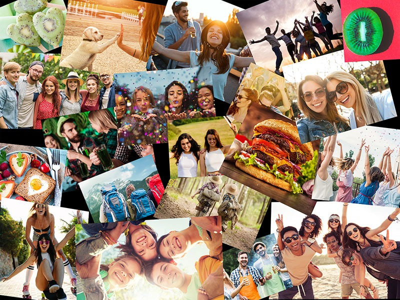 Photo Puzzle with Overlapping collage 20 Photos