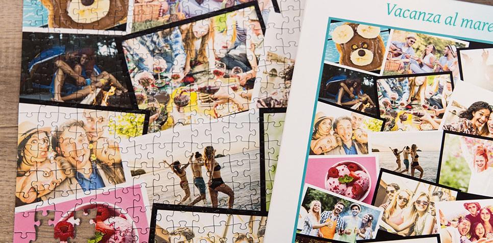Foto puzzle con collage sovrapposto