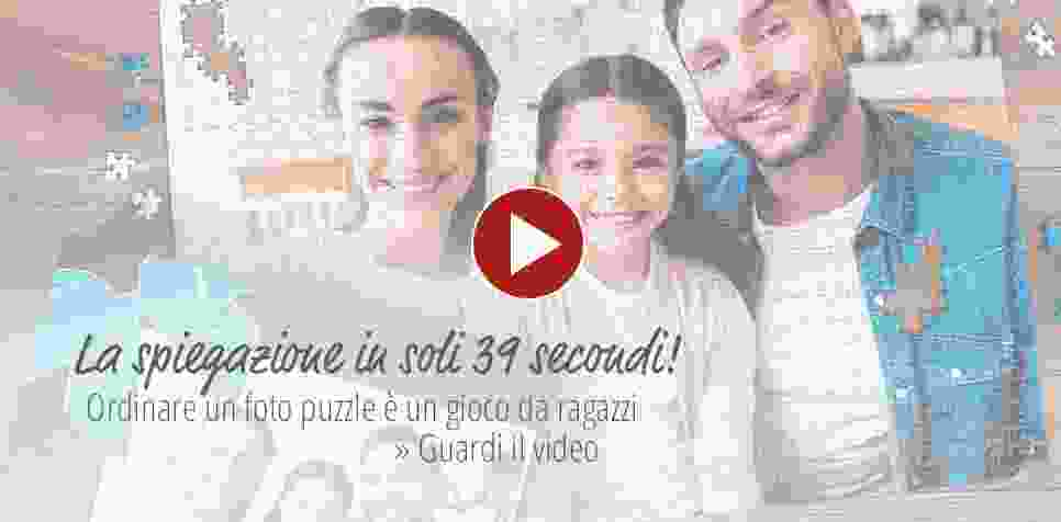 Ordinare foto puzzle sul video