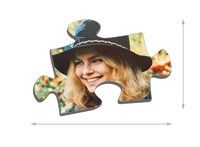 Dimensioni die tasselli del puzzle 100