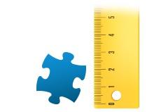 Proporzione dei tasselli del foto puzzle 200 pezzi